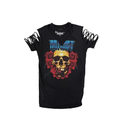 <span style='color: red;'>Prodej skončil</span> Ratchet Longline Black Roses Choker T-Shirt SS17, tričko