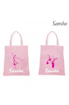 Sansha dětská taška s ouškem, s obrázkem baletky