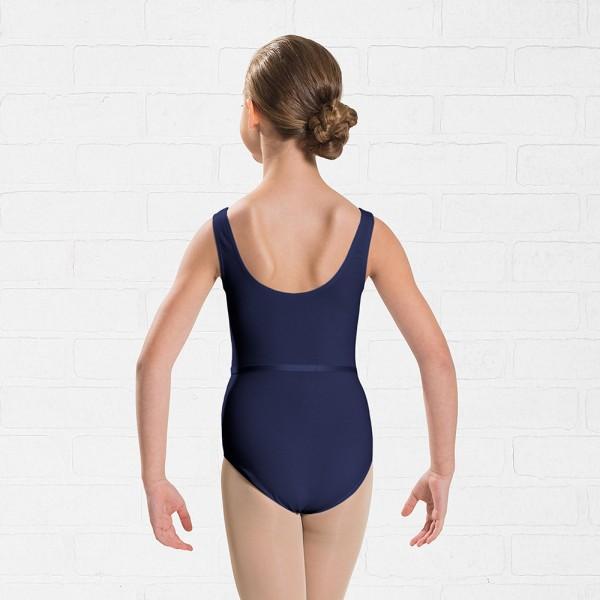 Capezio dětský baletní dres s opaskem na široká ramínka