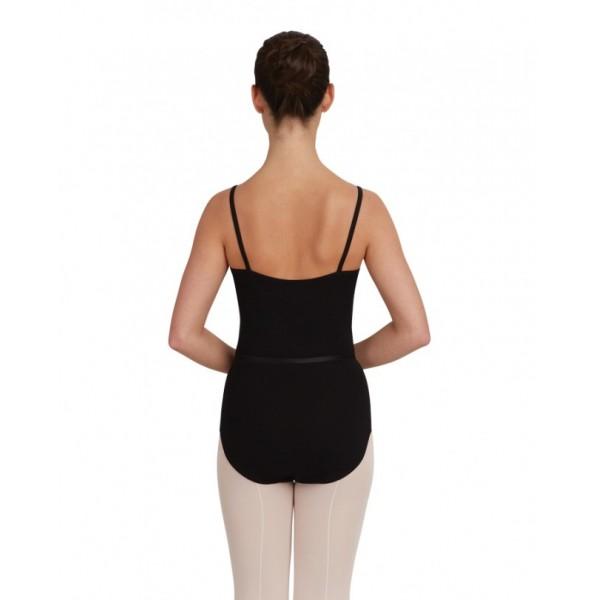 Capezio CAD100B, baletní dres na ramínka s opaskem
