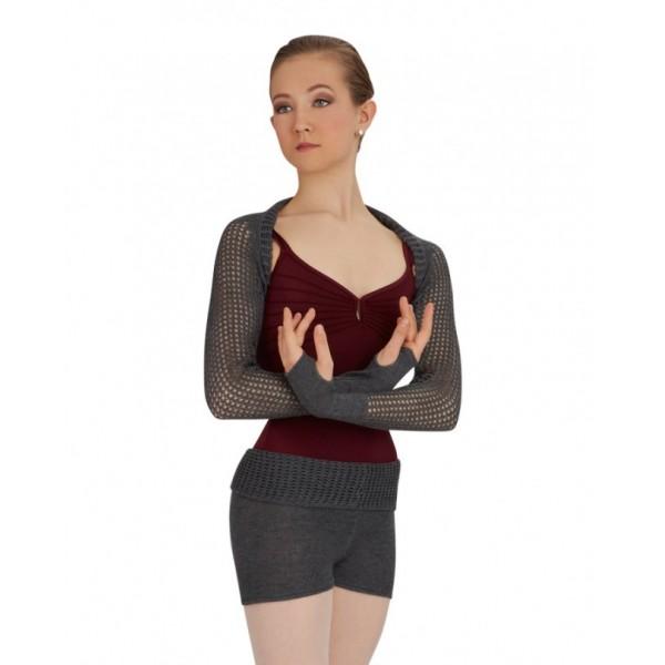 Capezio Short w/Fold Down Waist CK1003W, pletené šortky