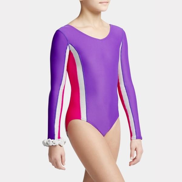 Capezio dětský gymnastický dres s dlouhým rukávem