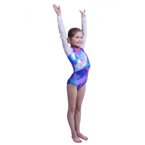 Capezio gymnastický dres pro dívky s dlouhým rukávem