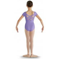 Bloch CL8832 strap back cap sleeve Leotard, dětský baletní dres