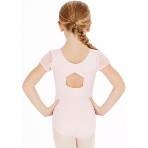 Capezio puff sleeve leotard, dětský baletní dres