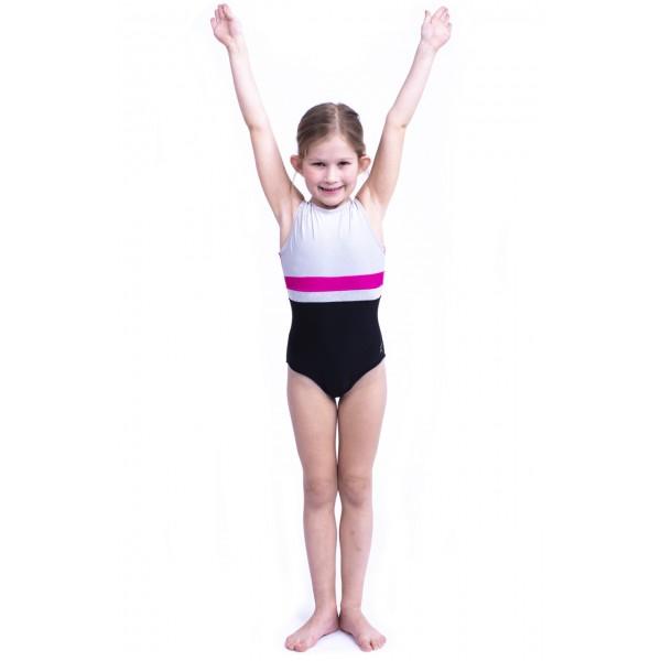 Capezio Stick the Landing Boat neck, dětský gymnastický dres bez rukávů