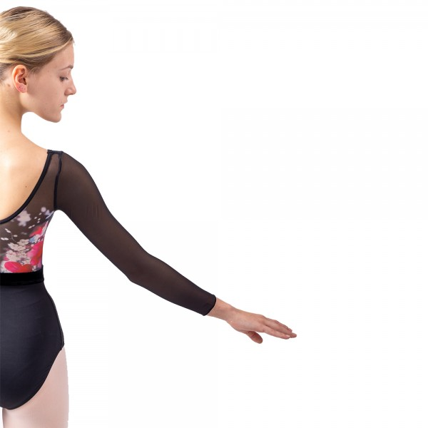 Sansha Floral, baletní dres s dlouhým rukávem