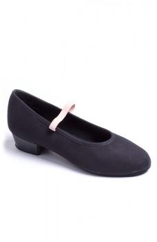 """Capezio Academy character 1"""" heel, plátěné charakterové boty pro děti"""