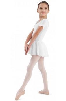 Bloch Tiffany, bavlnený dres s krátkým rukávem a se sukýnkou
