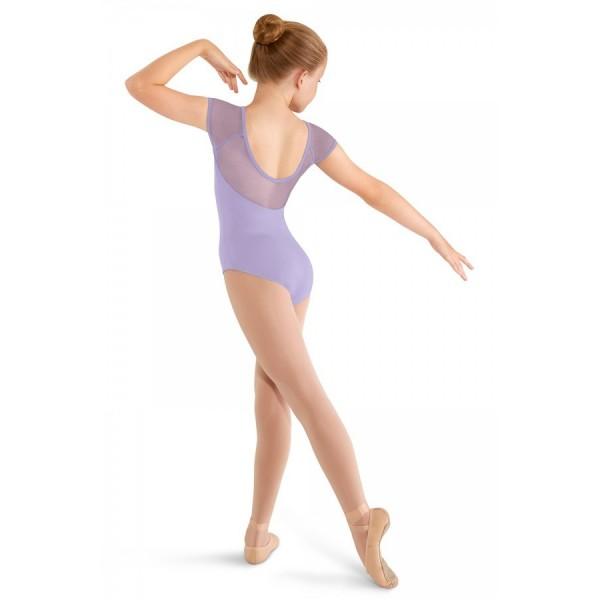 Mirella M411C Soft mesh cap sleeve Leotard, dětský baletní dres