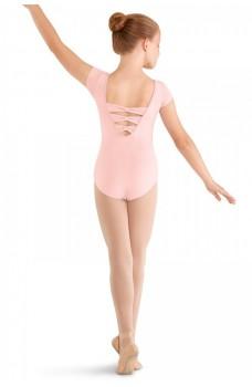 Mirella M414C, 3 Bow back cap sleeve Leotard, dětský baletní dres