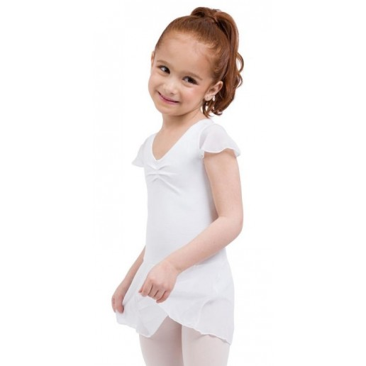 Capezio flutter sleeve dress, dres se sukní
