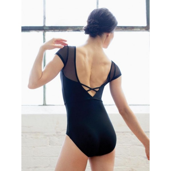Capezio Meryl Mesh Yoke Short Sleeve, baletní dres