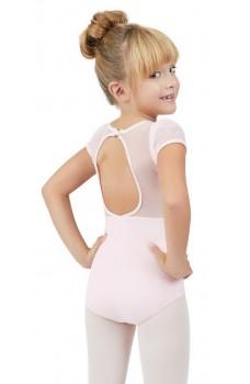 Capezio puff sleeve keyhole back leotards, dětský dres