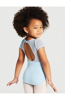Capezio puff sleeve keyhole back leotards, dětský baletní dres