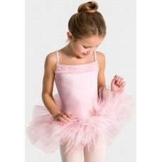 Capezio Ruffle Yoke Tutu Dress, dětský dres s tutu sukýnkou