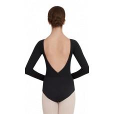 Capezio V neck long sleeve, baletní dres