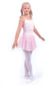 Capezio Swiss Dot Cinch Waistband Layer Skirt, sukýnka pro dívky