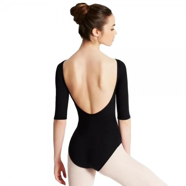 Capezio boatneck 3/4 sleeve Leotard, baletní dres