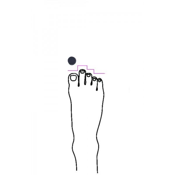Výplň do baletních špiček pro řecký typ nohy